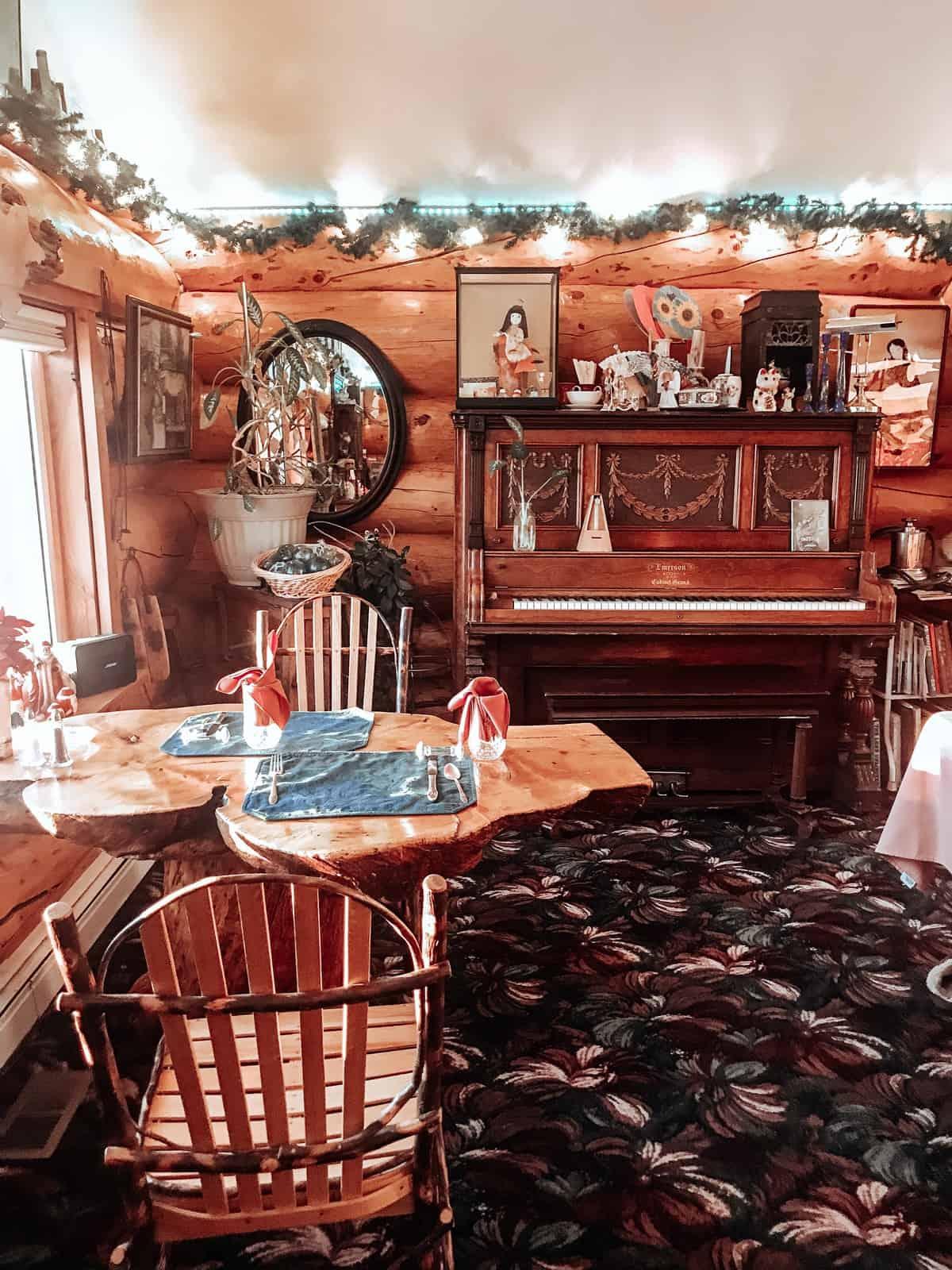 Breakfast nook at A Taste of Alaska Lodge in Fairbanks, AK