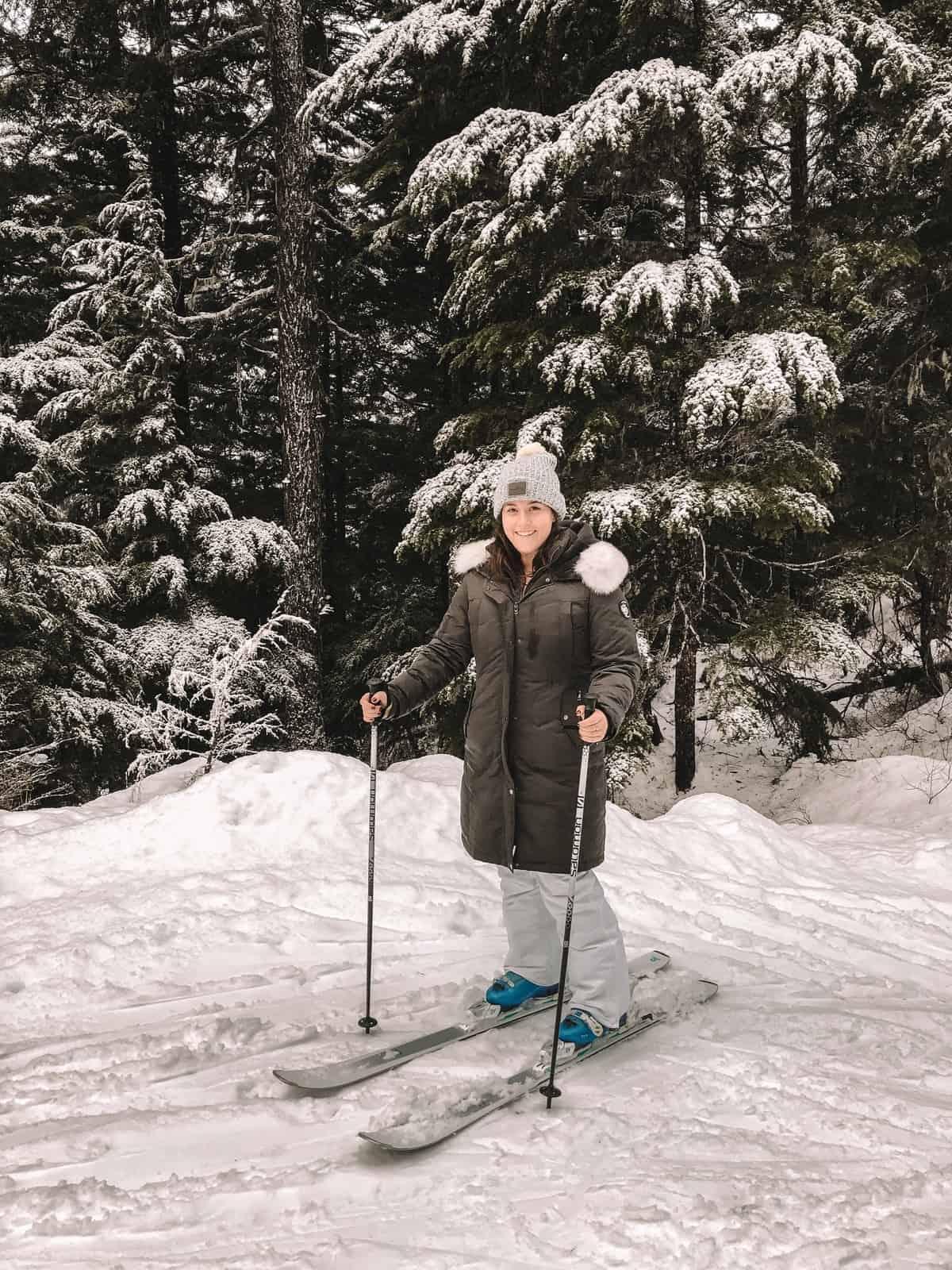 Skiing at Alyeska Ski Resort in Anchorage, Alaska