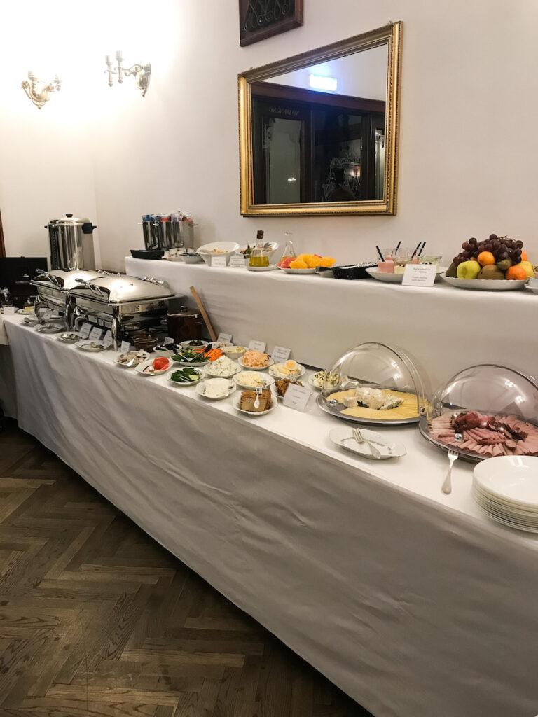 Breakfast Buffet at Hotel Francuski in Krakow, Poland.