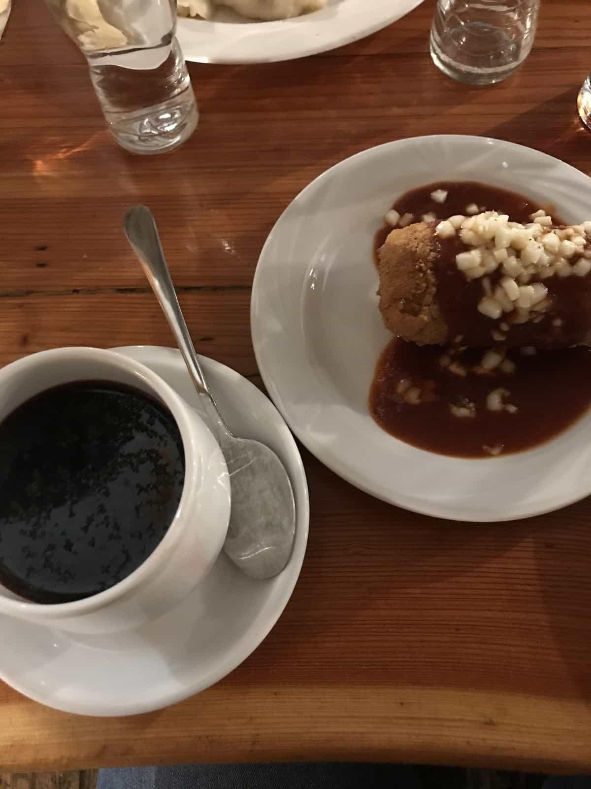 Borsht soup at U Babci Maliny restaurant in Krakow, Poland