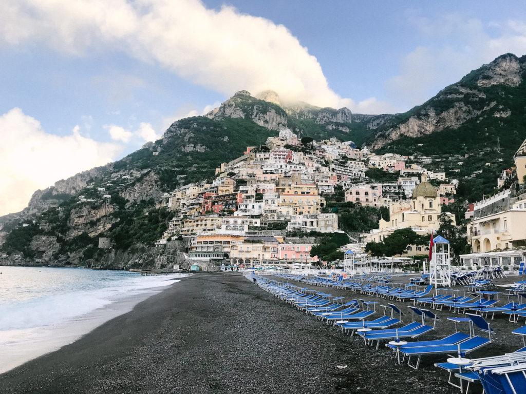 coastline of positano, italu