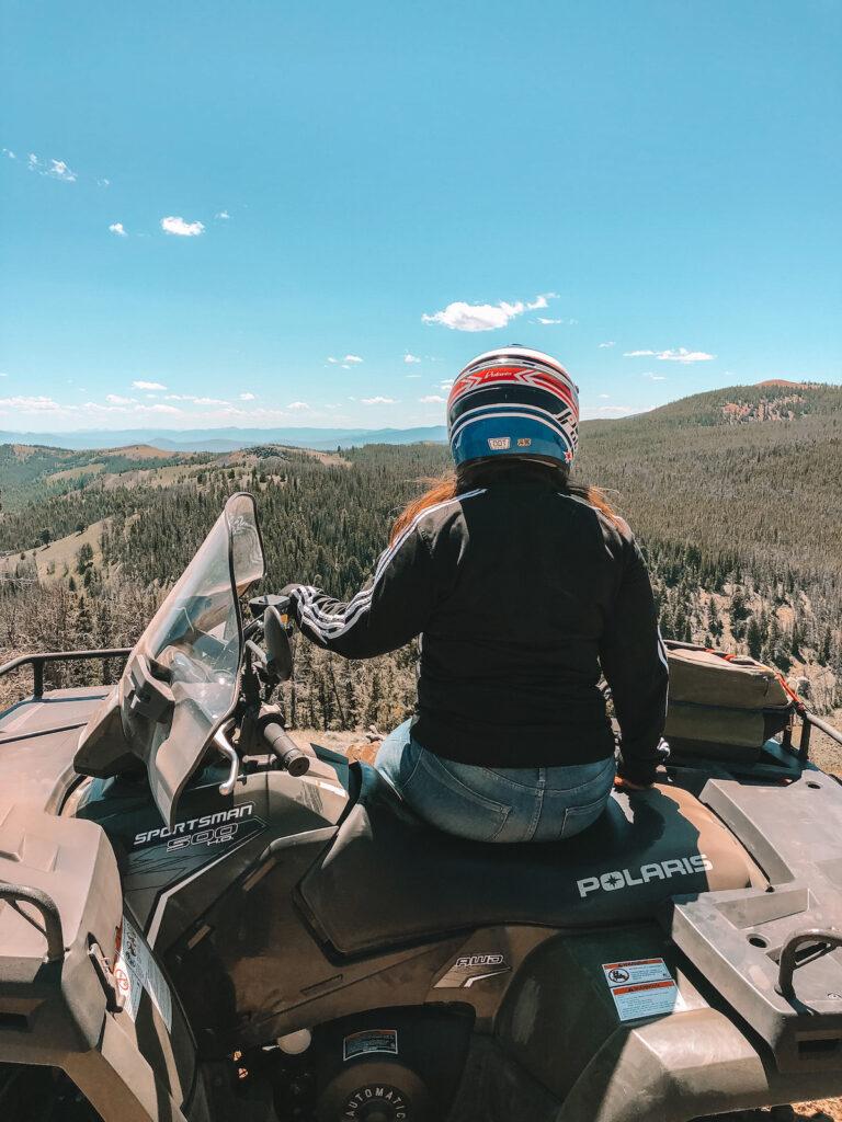 ATV riding in mountains in Butte, Montana
