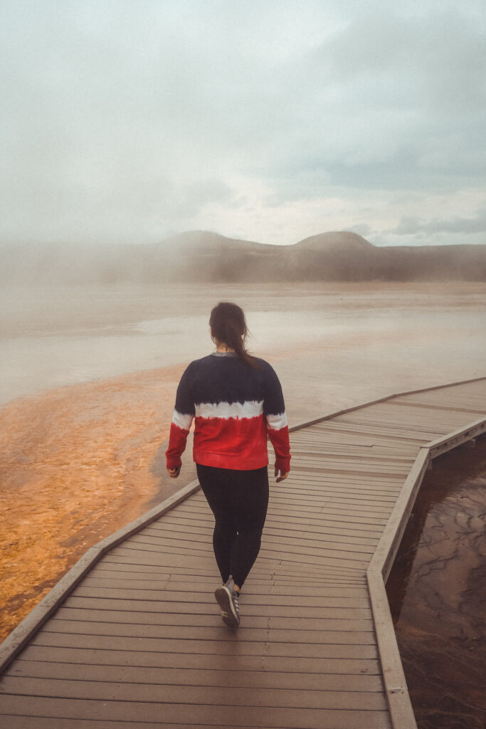 Grand Prismatic Spring at Yellowstone National Park - sustainable travel