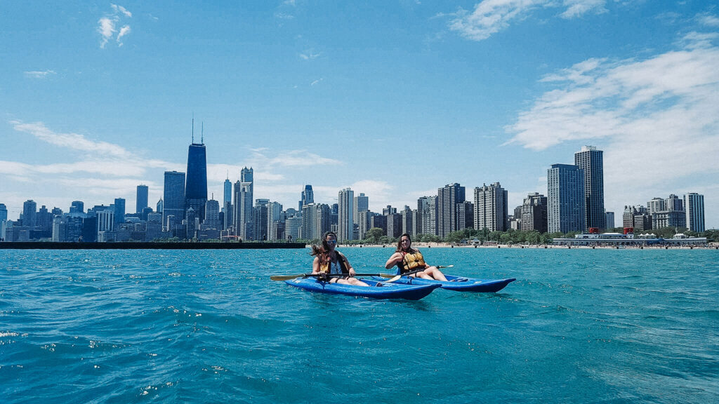 Kayaking at north avenue beach