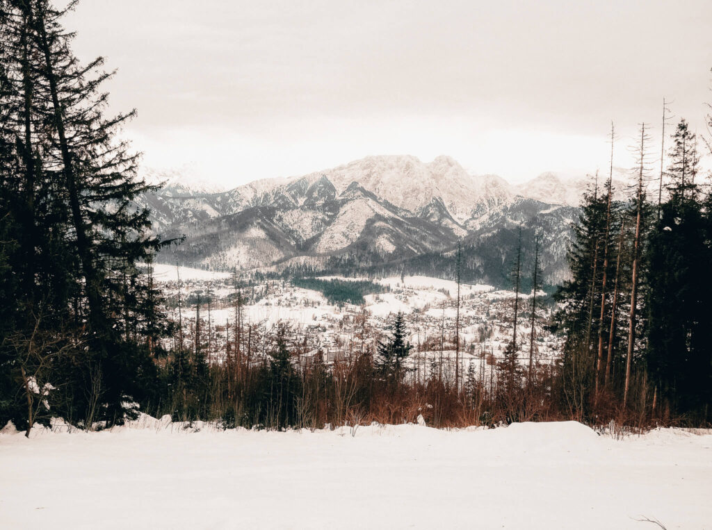 Mountain views in Zakopane, Poland