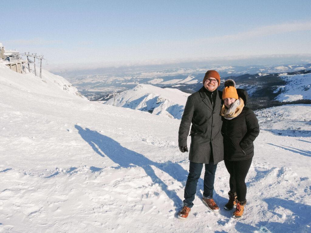On top of the mountains in Zakopane, Poland