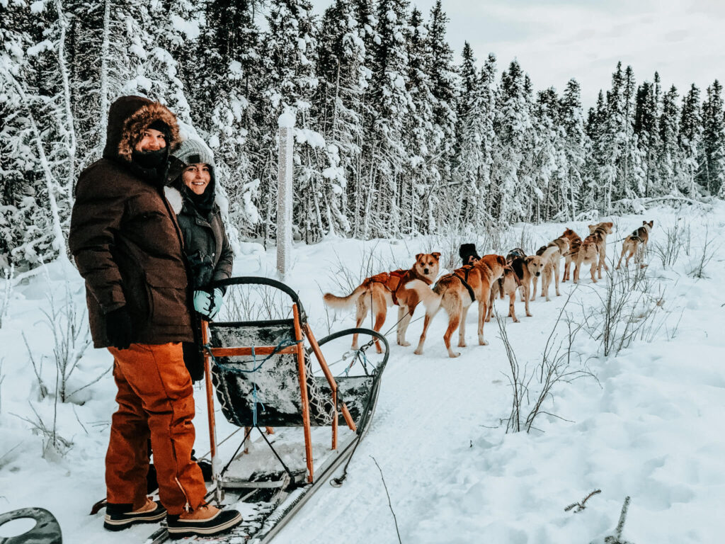 Dog sledding in Fairbanks, Alaska
