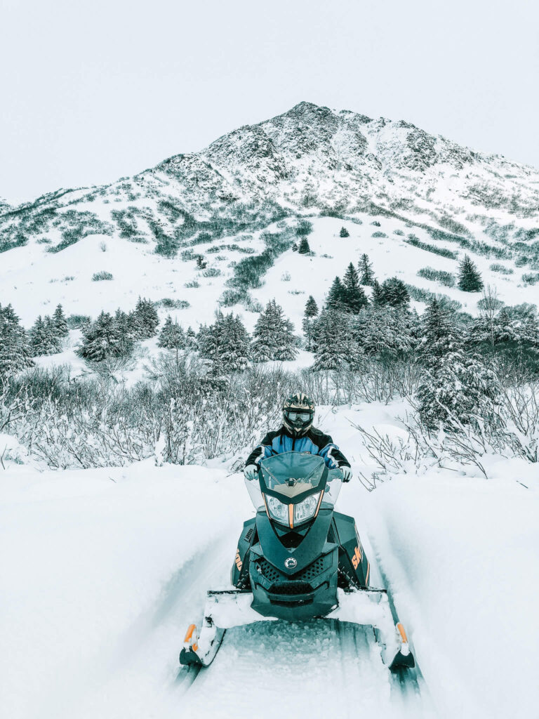 Snowmobiling in Anchorage, Alaska