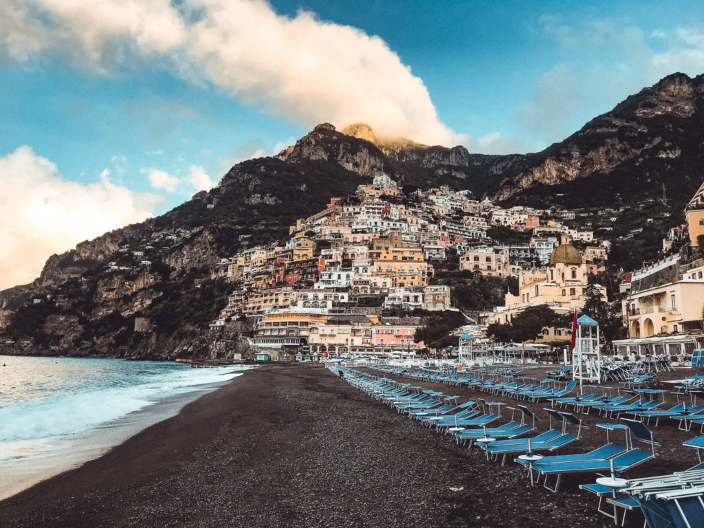 coastline of positano, italy