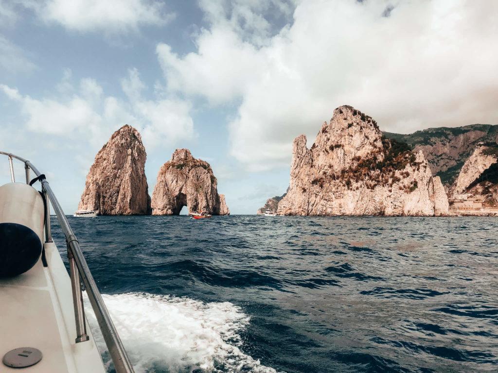 faraglioni rocks in Capri, Italy
