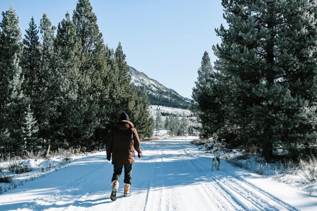 winter camping in bridger-teton national forest