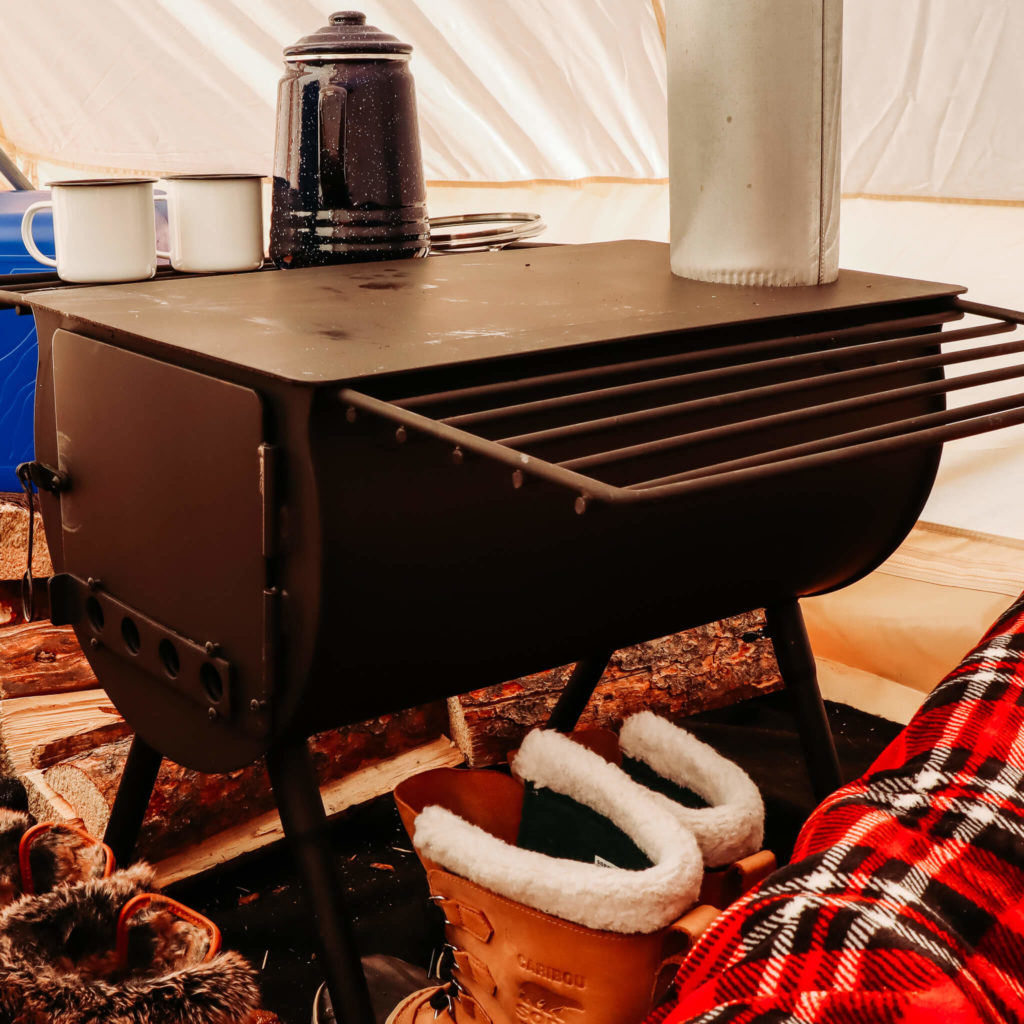wood burning stove for winter camping