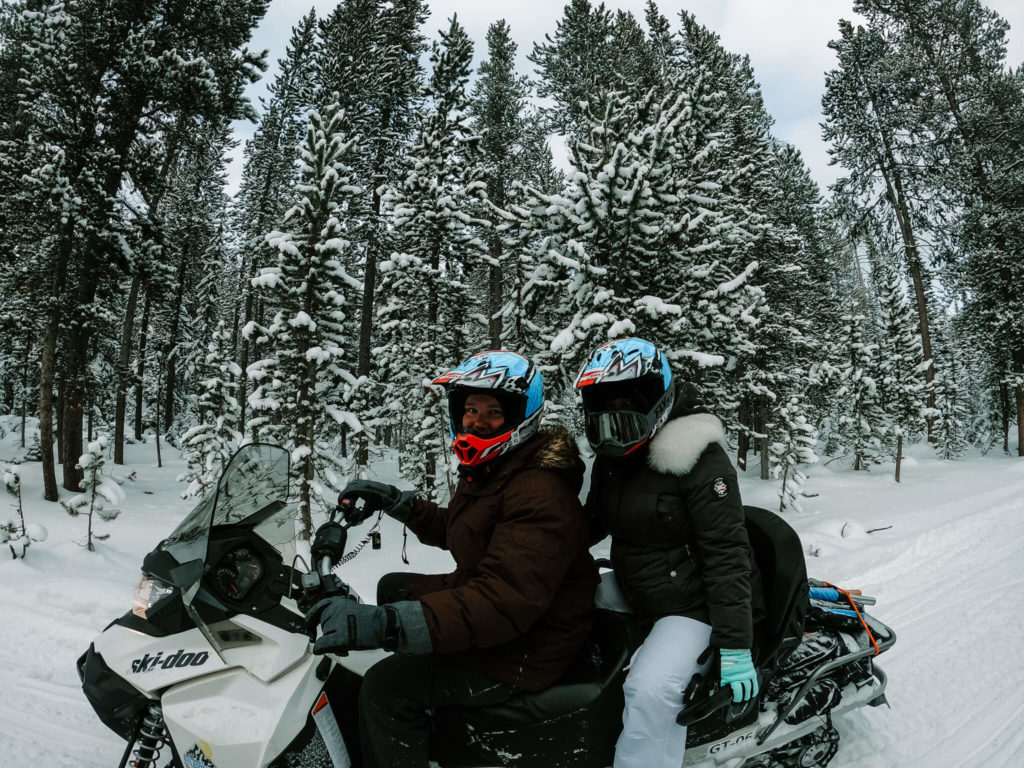 snowmobiling in West Yellowstone, Montana