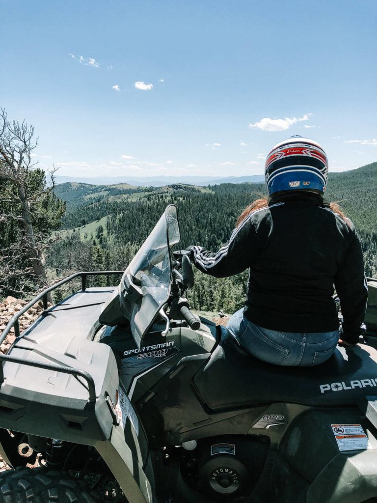 Riding ATVs in Butte, Montana
