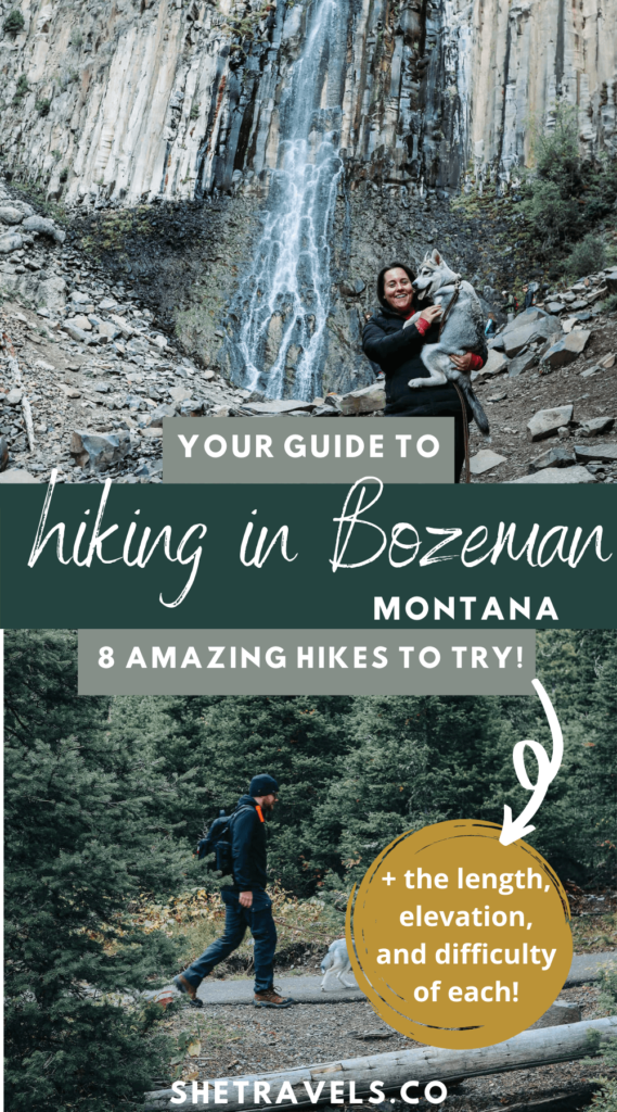 I'm sharing the best hikes in Bozeman, Montana. Your guide to hiking in Bozeman! 8 hikes to try in the area. | Montana travel | Montana hikes | hiking in montana | camping in montana | camping in bozeman | outdoor activities | what to do in bozeman | bozeman travel