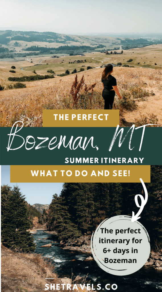 I'm sharing what to do in Bozeman, Montana in this post. This is the perfect Bozeman Itinerary for 6+ days in the summer. Montana travel | Bozeman activities | Montana itinerary | Western US travel | Montana road trip | USA road trip