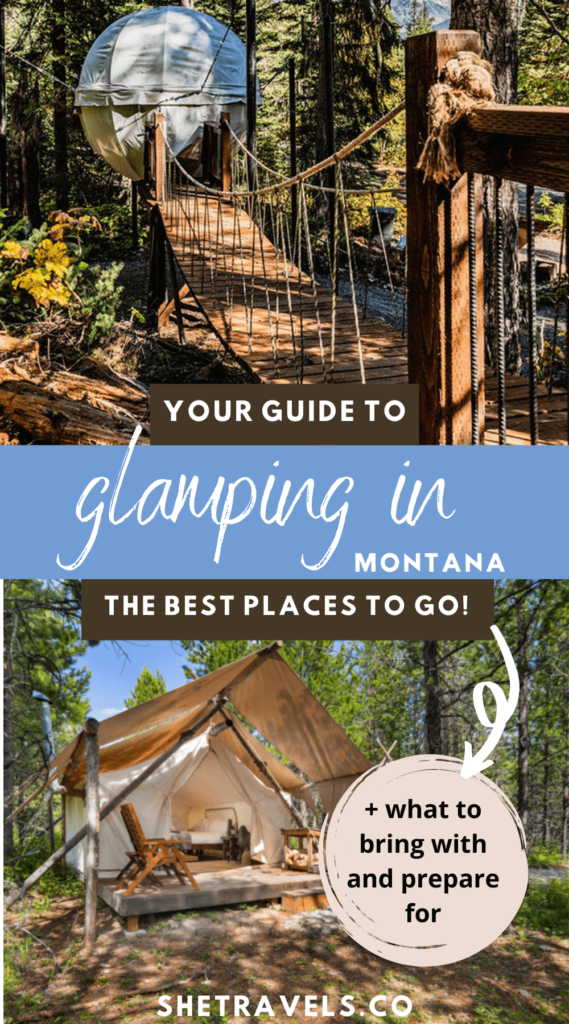 Glamping in Montana is a unique experience to have when you visit Montana! Here are the best places to glamp in Montana, what you should bring with you, and everything else you need to know about glamping.   Montana travel   what to do in Montana   Montana trip   camping tips   camping in Montana   Montana camping   where to glamp   where to camp