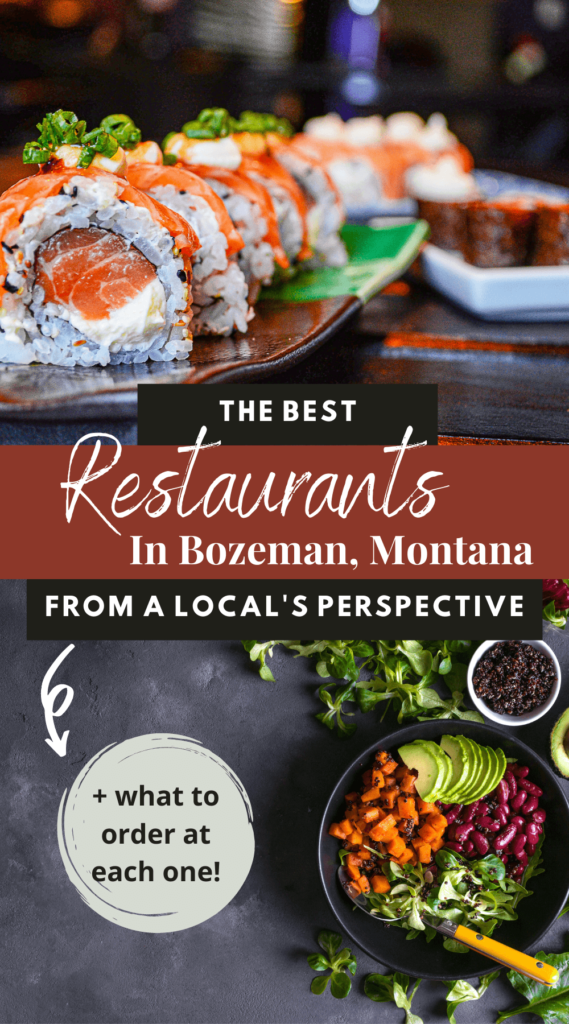 I'm sharing the best restaurants in Bozeman from a local's perspective! These are the restaurants I would recommend when visiting Bozeman | bozeman, Montana | montana travel | visit bozeman | visit montana | where to eat in bozeman | where to eat in montana