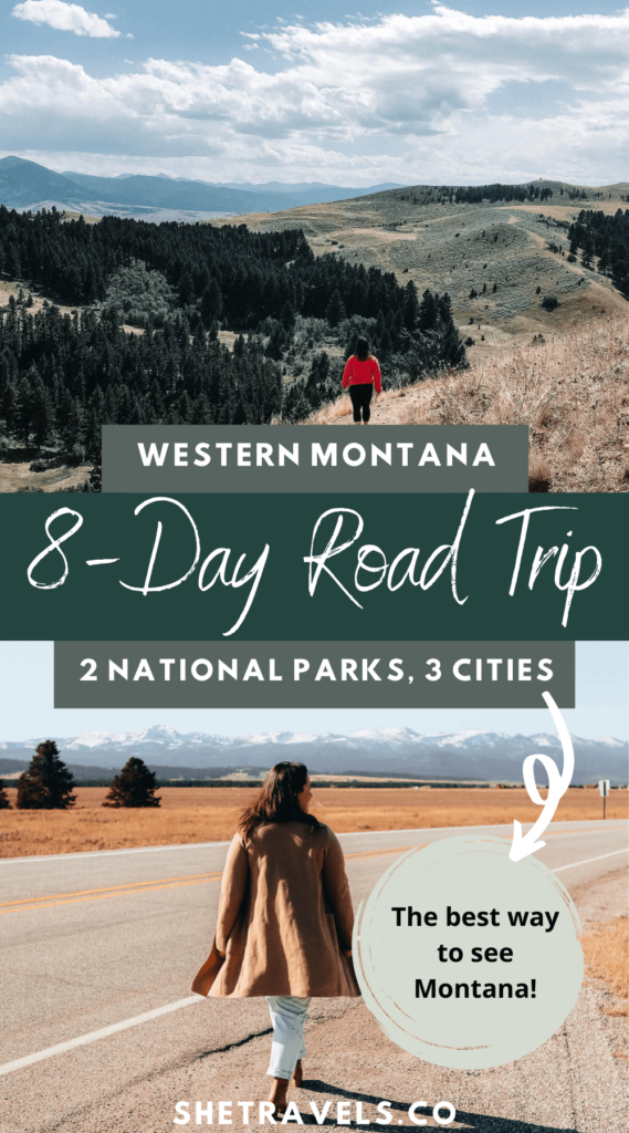 I'm sharing an 8-day itinerary for a road trip across western Montana. This is the best way to see Montana! montana travel | bozeman montana | helena montana | missoula montana | glacier national park | yellowstone national park | visit montana | what to do in montana | USA road trip