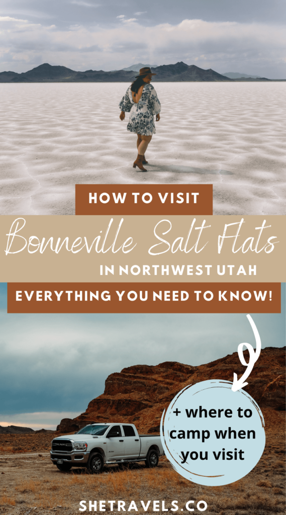How to visit the Bonneville Salt Flats in Utah! This post has everything you need to know including where to camp near the Bonneville Salt Flats | utah travel | camping in utah | truck camping | backcountry camping | utah road trip | USA road trip | what to see in utah