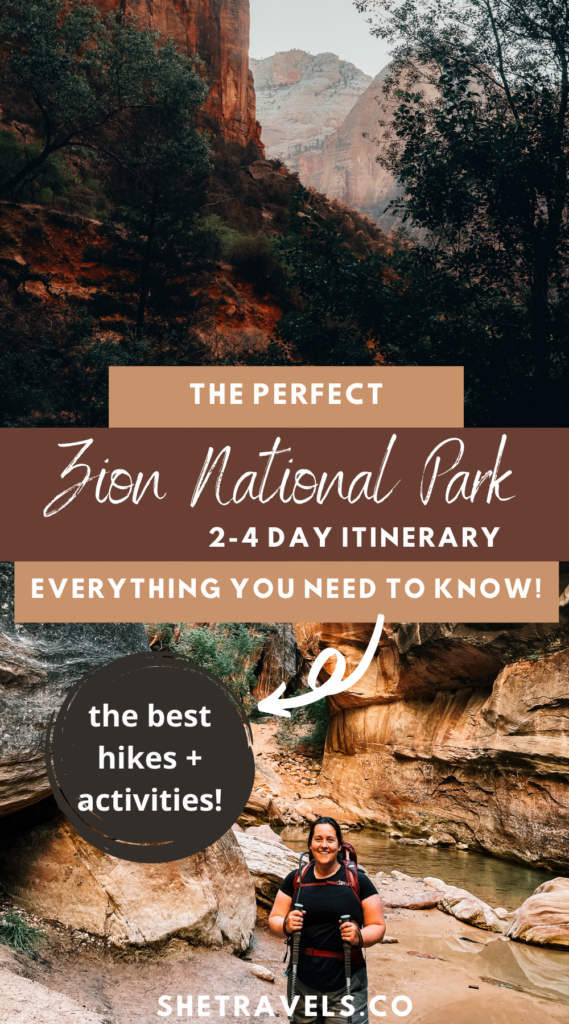 The perfect 2-4 day Zion National Park itinerary. What to do and see when visiting Zion and the best hikes in Zion! | utah travel | what to do in utah | best hikes in utah | what to do in Zion | horseback riding in zion | helicoptor rides zion | usa travel | usa road trip | outdoor travel | hiking travel