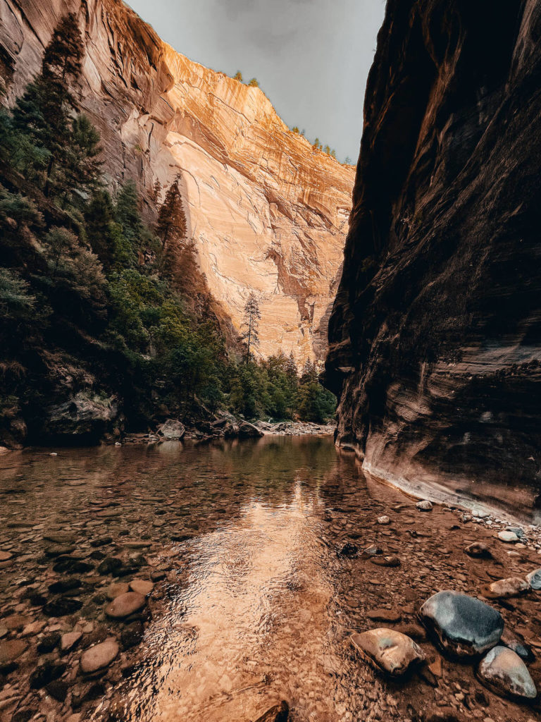 The Narrows hike in Zion National Park